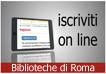 Biblioteche di Roma: iscrizione on line