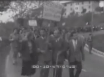 Corteo di protesta dei ciechi che da Firenze raggiungono a piedi Roma per presentare le loro rivendicazioni al governo. 20.05.1954