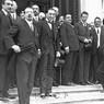 Acerbo, con i colleghi, in una foto di gruppo  a Montecitorio