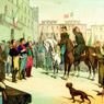 Rivoluzione del 1820 a Napoli.L'abate Meneghini, ed il generale Pepe alla testa dei carabinieri, Terzo quarto del XIX secolo, Museo Centrale del Risorgimento di Roma
