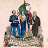 W il nostro Re Vittorio Emanuele II. W l'Italia risorta e W il Conte di Cavour ,1860, Museo Centrale del Risorgimento di Roma