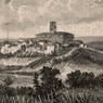 Alexandre De Bar, Événements d'Italie. Vue générale de Monte-Rotondo, 1867 ca, Museo Centrale del Risorgimento di Roma