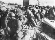Riproduzione fotografica della I Guerra Mondiale - Prima linea sul S. Michele (provincia di Gorizia)
