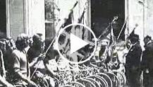 A Roma l'adunata dei dopolavoristi ferrovieri ciclisti