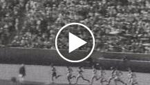 """Los Angeles, S.U.A. Gli """"Atleti azzurri"""" mirabili ambasciatori d'italianità fascista conquistano il primato assoluto su tutte le nazioni europ..."""