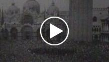 Italia    L'incontro Mussolini - Hitler a Venezia    Il Duce parla al popolo adunato in piazza S. Marco