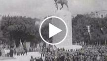 Napoli. Il Re presenzia l'inaugurazione del monumento ad Armando Diaz