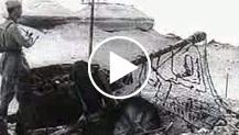 Prima corrispondenza cinematografica della battaglia che infuria nella stretta di El Alamein