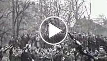 """""""Milano - Il Maresciallo Graziani porta il suo saluto al battaglione 'Lupo' in partenza per il fronte"""""""