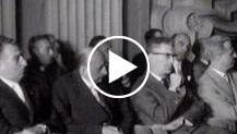 Palazzo Madama di Torino: i membri della commissione nazionale per la celebrazione del primo centenario dell'Unità d'Italia si riuniscono per la prima...