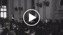 Il presidente Gronchi inaugura l'Esposiziona Italia 1961
