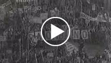 Italia - Imponente manifestazione dei metalmeccanici a Torino