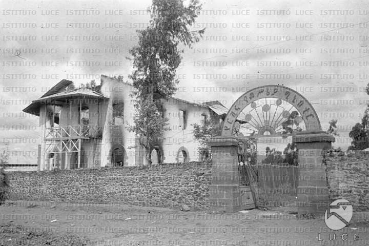 Addis abeba veduta della citt appena occupata dalle for Sede senato italiano