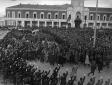 L'arrivo a Latina di Mussolini e delle autorità fa ...