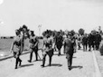 Aeroporto poligono di Furbara; arrivo del Fuhrer e del Duce accompagnati da personalità tedesche ed italiane