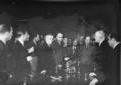 I delegati francesi e le autorità italia ...