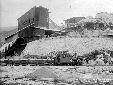 Monticchio, partenza di un treno carico di breccia