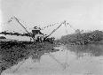 Escavatore Tosi n. 1, scavo canale Acque Basse pre ...