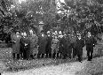 Gruppo nel parco della Villa di Fogliano