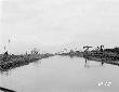 Escavatore Tosi n. 1 al lavoro allargamento fiume  ...
