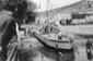 Terracina. Varo del vaporetto sul canale Navigazio ...